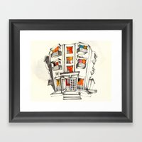 Japanese building Framed Art Print