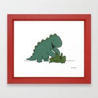 Tickle Monster  Framed Art Print