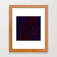 abstract tide Framed Art Print