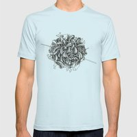 The Knitting Mens Fitted Tee Light Blue SMALL