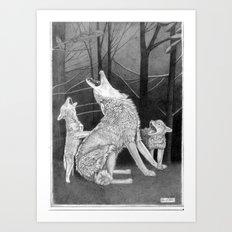 Howling Practice  Art Print