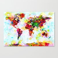 Abstract World Splatter … Canvas Print