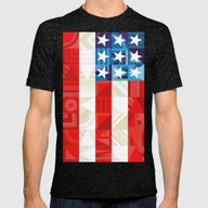 America Mens Fitted Tee Tri-Black SMALL