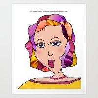 Digital Paper Doll 03 Art Print