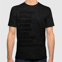 Zachary Quinto and Chris Pine want to enrich YOUR vocabulary. Mens Fitted Tee Tri-Black SMALL