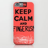 iPhone & iPod Case featuring Keep Calm And Fingerism by Mini Finger
