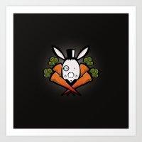 teh bunny Art Print