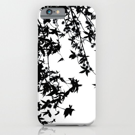 black on white iPhone & iPod Case