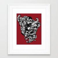 Horror Doodle Framed Art Print