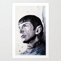Goodbye Mr. Spock - Leon… Art Print