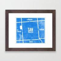 This is SF (Blue) Framed Art Print