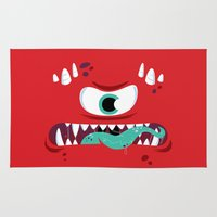 Baddest Red Monster! Rug