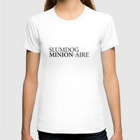 SLUMDOG MINION-AIRE Womens Fitted Tee White SMALL