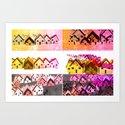 Colour Village Art Print