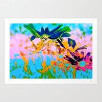 Secret Garden I - Floral Abstract Art Art Print