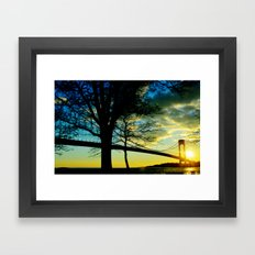 New York Sunset Framed Art Print