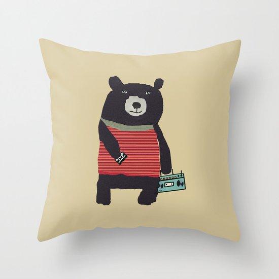 Boomer bear Throw Pillow