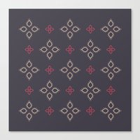 Abstract floral shapes Canvas Print