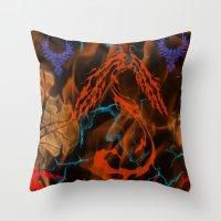 Phoenix Flame Throw Pillow