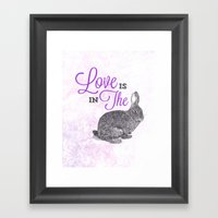 Love Is In The Hare. Framed Art Print