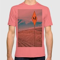Yup, You're In Rural Montana Mens Fitted Tee Pomegranate SMALL