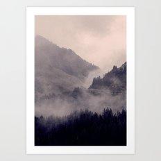 HIDDEN HILLS Art Print