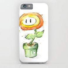 Fireflower Mario Watercolor iPhone 6s Slim Case