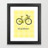 Bicyclelove, no. 3 Framed Art Print