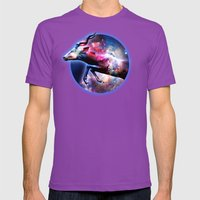 Galactic jump Mens Fitted Tee Ultraviolet SMALL