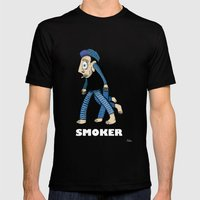 Smoker  Mens Fitted Tee Black SMALL