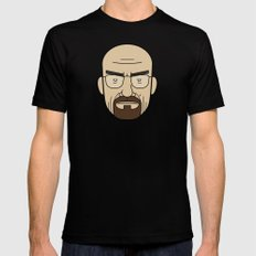 Faces of Breaking Bad: Walter White SMALL Mens Fitted Tee Black