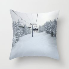 Skiing Vermont Throw Pillow