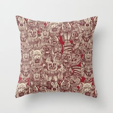 gargoyles red Throw Pillow