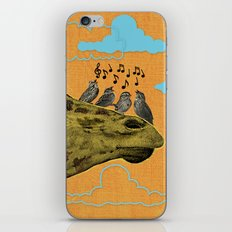 Giraffe & Singing Birds Print iPhone & iPod Skin