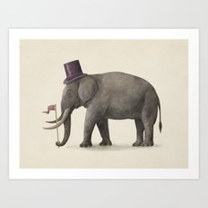 Elephant Day  Art Print