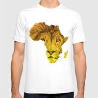 King Of The Jungle! Mens Fitted Tee White SMALL
