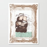 Old Clipper Ship Canvas Print