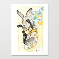 Glowing Jackrabbit Canvas Print