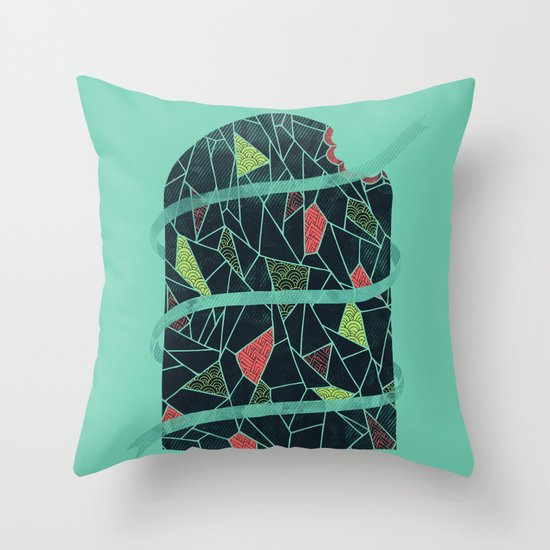 The Winter Tree Throw Pillow