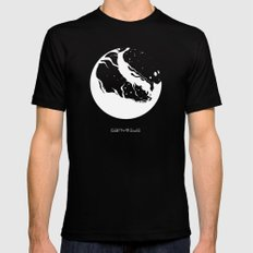 GANYMEDE Mens Fitted Tee Black SMALL