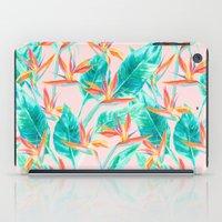 Birds of Paradise Blush iPad Case