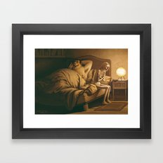 The other vampire / L'autre vampire Framed Art Print