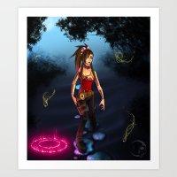 .:Through the Mist:. Art Print