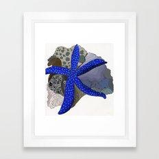 starfish + coral Framed Art Print