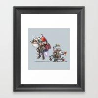 Crazy Creative Inventor Framed Art Print
