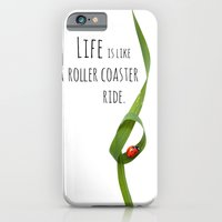 iPhone & iPod Case featuring Life is like a roller coaster ride. by sissidesign