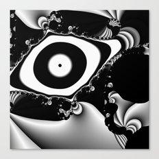Black and White Fractal 14 Canvas Print