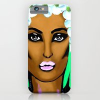 iPhone Cases featuring Cleopatra The Queen of Beauty by Saundra Myles