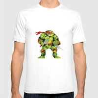 Twin Sai Turtle Mens Fitted Tee White SMALL