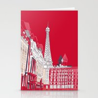 Glorious Paris - Red Stationery Cards
